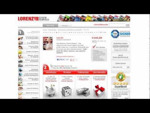 Zeitschriften Abo online bequem und sicher abonnieren