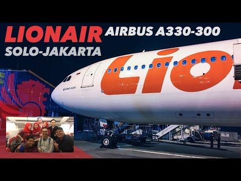 LION AIR Airbus A330-300 Widebody Solo-Jakarta   SERU ABISSS! Collab VLOG with rhmtdhani & Riazylink