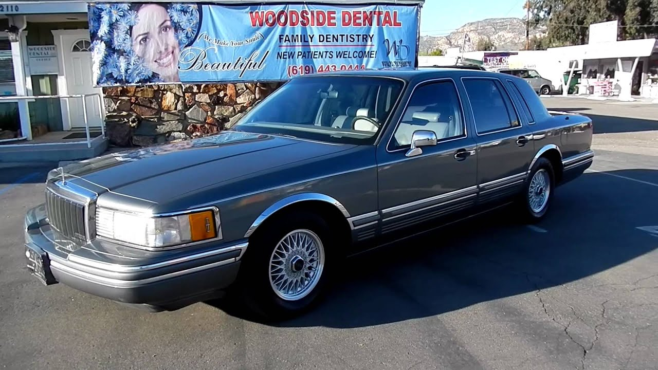 1991 Lincoln Town Car Business Luxury Sedan Leather Loaded