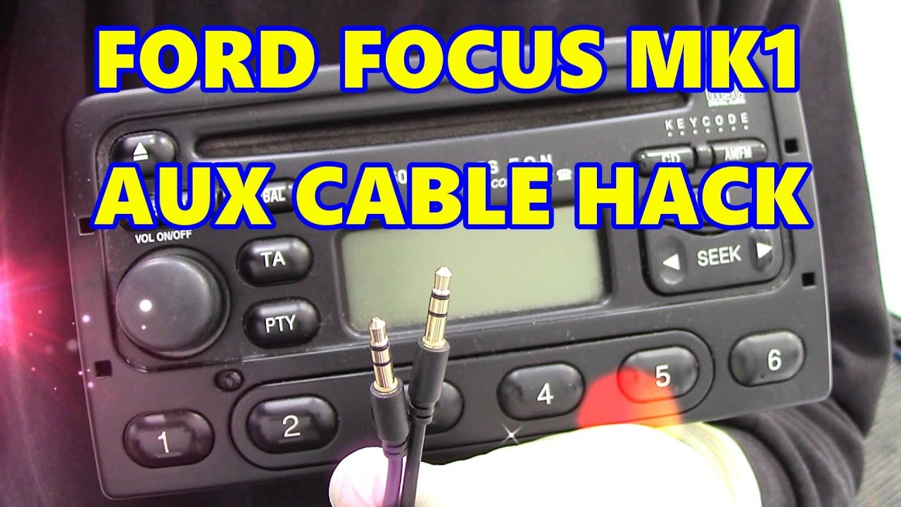 ford focus mk1 aux cable hack youtube. Black Bedroom Furniture Sets. Home Design Ideas