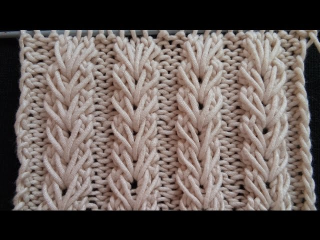 Pletenje - Bod - Pšeni?no klasje | Knitting tutorial - Wheat Ear Stitch