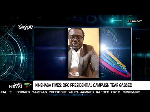 Kinshasa Times: DRC Presidential campaign tear gassed