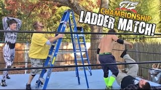 CRAZIEST LADDER MATCH ON YOUTUBE EVER FOR GTS WRESTLING CHAMPIONSHIP!