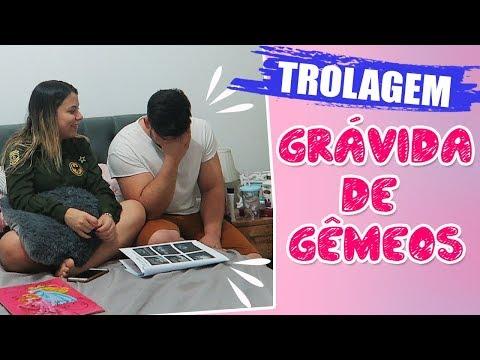 GR�VIDA DE G�MEOS! - TROLANDO O MARIDO | Kathy Castricini