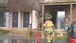 ARRIVAL VIDEO: Firefighters stretch for kitchen fire 09/05/17