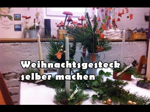 weihnachtsgesteck selber machen weihnachtsdekoration youtube. Black Bedroom Furniture Sets. Home Design Ideas