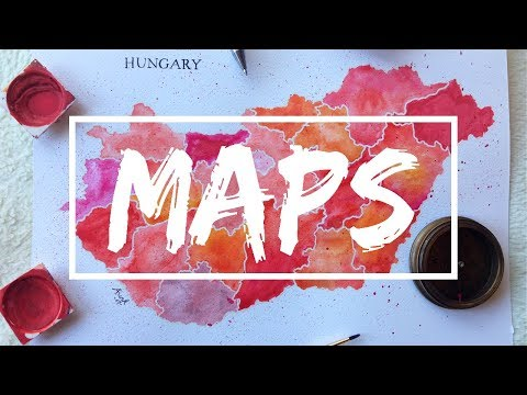 Painting Maps Of China And Hungary | Anna-Marie Funk