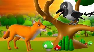 The Fox & Crow 3D Animated Hindi Stories for Kids Moral Stories लोमड़ी और कौवा हिन्दी कहानी Tales thumbnail