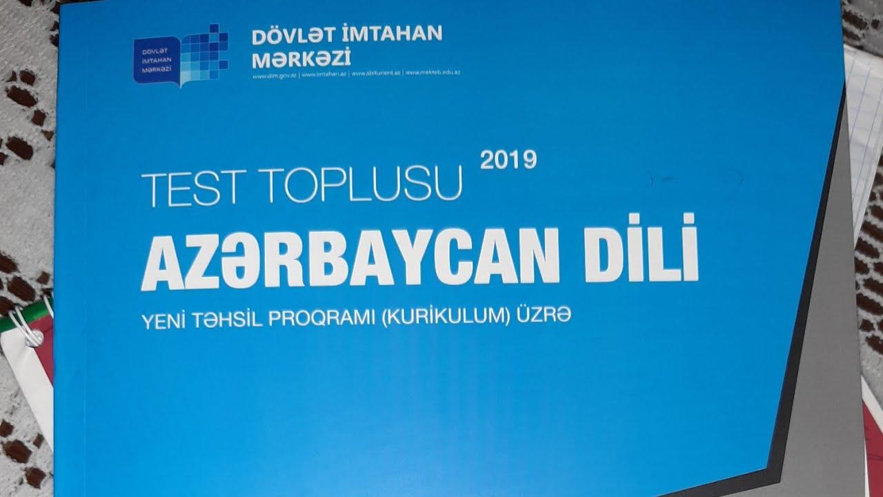 Azerbaycan Dili Test Toplusu Dim 2019 Cavablari Youtube