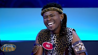 Steve's Dude and CRAZY for REAL!! He might even just be THE CRAZY Uncle!   Family Feud South Africa