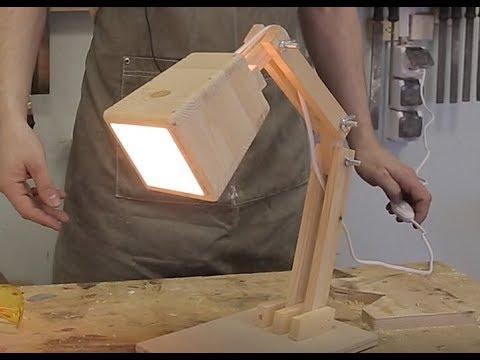 Настольный светильник из дерева своими руками