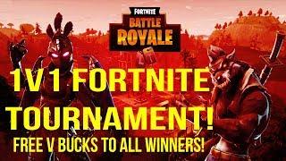 1v1 Fortnite Turnier! 7pst Free V Buck Giveaway An alle Gewinner! (Unterzahl 472/500 )
