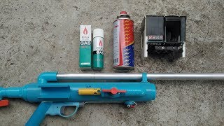 EASY DIY : แก๊สกระป๋องเล็ก vs แก๊สกระป๋องใหญ่ อันไหนแรงกว่ากัน : Lighter gas vs  Cooker gas.