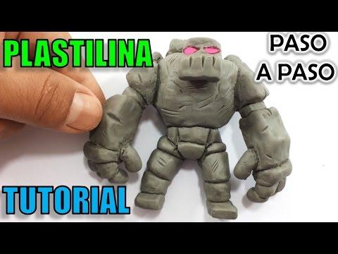 ✅ GOLEM DE CLASH ROYALE DE PLASTILINA ✅ DIY CLASH ROYALE - Polymer clay tutorial