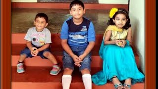 Arjun & Arnav playing with  their  cousin Navneetha lll Play Time lll