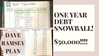 HOW I PLAN TO PAY OFF $50,000 OF DEBT IN ONE YEAR | DEBT SNOWBALL PAY OFF PLAN | DAVE RAMSEY