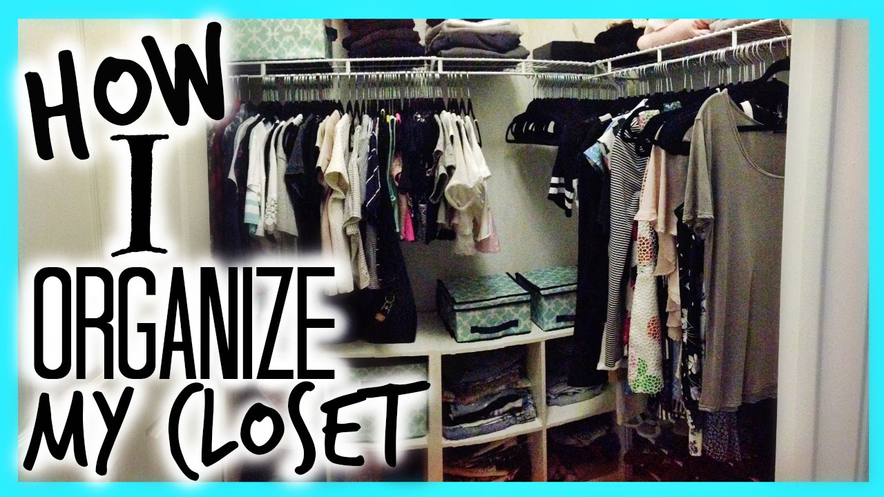 Claudia 39 Slife How I Organized My Closet Youtube