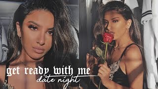 GET READY WITH ME: Date Night | Makeup, Hair & Outfit