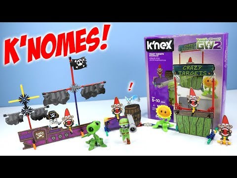 Plants Vs Zombies GW2 K'nex Boat Blast & Crazy Targets Building Sets Review