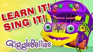 Repeat youtube video Wheels On The Bus Sing-A-Long |  Nursery Rhymes | GiggleBellies