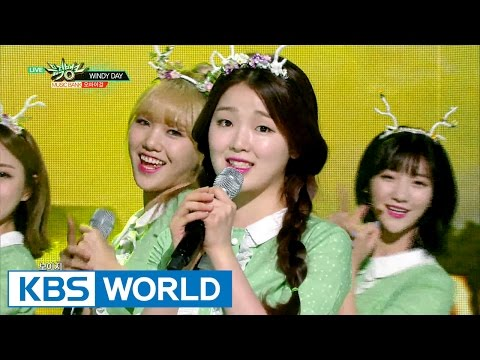 OH MY GIRL (오마이걸) - WINDY DAY [Music Bank / 2016.06.10]
