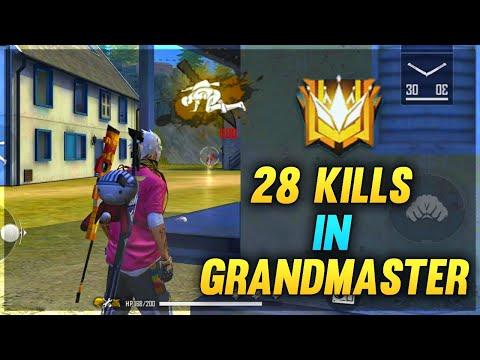 28 Kills In GrandMaster 😨 || Ranked Match || GArena Free Fire - Desi Gamers