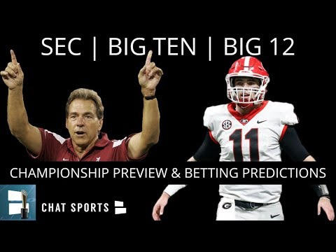 SEC, Big Ten, Big 12 Championship Previews, Point Spreads, And College Football Odds Analysis