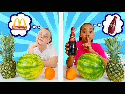 TIANA CHEATED!! Twin Telepathy Milkshake Challenge!!!