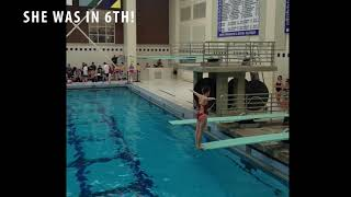 Diving at Bucknell- my daughter is SORT OF like a fish....