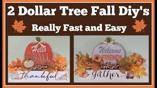 2 Dollar Tree Fall 🍁 Diy's Really Easy