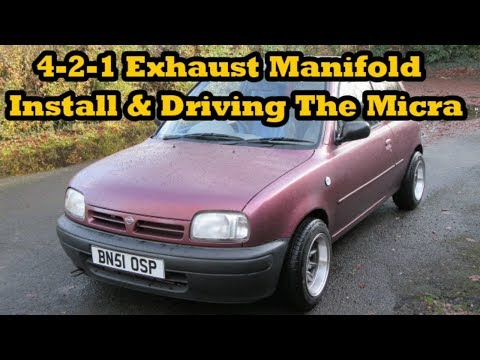 4-2-1 Exhaust Manifold Install & Driving The Micra!