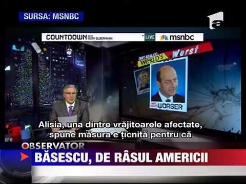 Basescu, de rasul Americii