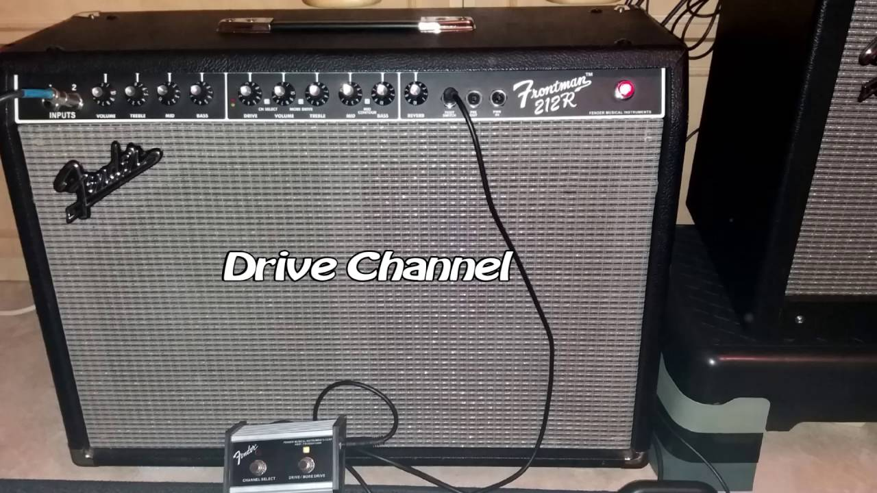 fender frontman 212r 100w testing clean and drive channel more drive youtube. Black Bedroom Furniture Sets. Home Design Ideas