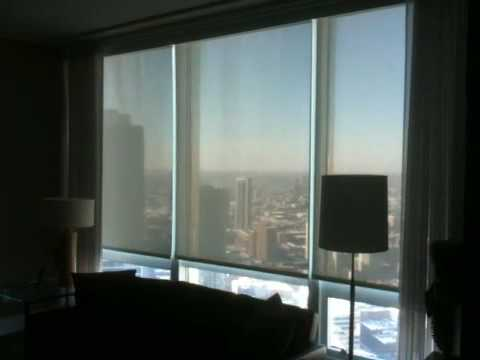 Lutron Shades and drapes