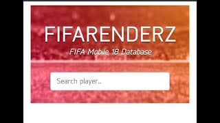 FIFARenderZ FIFA MOBILE  DATABASE APP OUT ON  GOOGLE PLAY