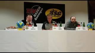 Trainergespräch nach dem Heimspiel gegen Köndringen/Teningen