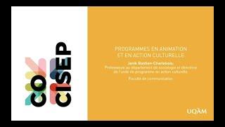 Programmes en action culturelle et en animation culturelle