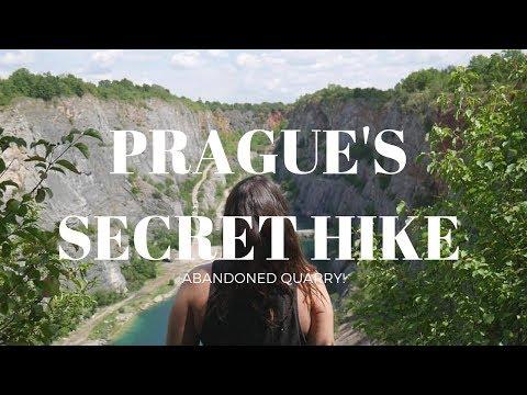 Hiking an abandoned quarry outside Prague - Velka Amerika