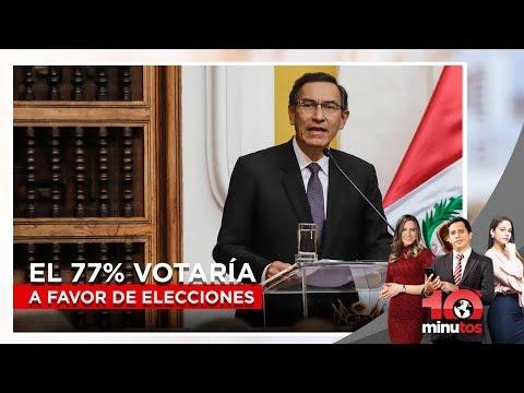El 77% votaría a favor de elecciones adelantadas  - 10 minutos Edición Matinal