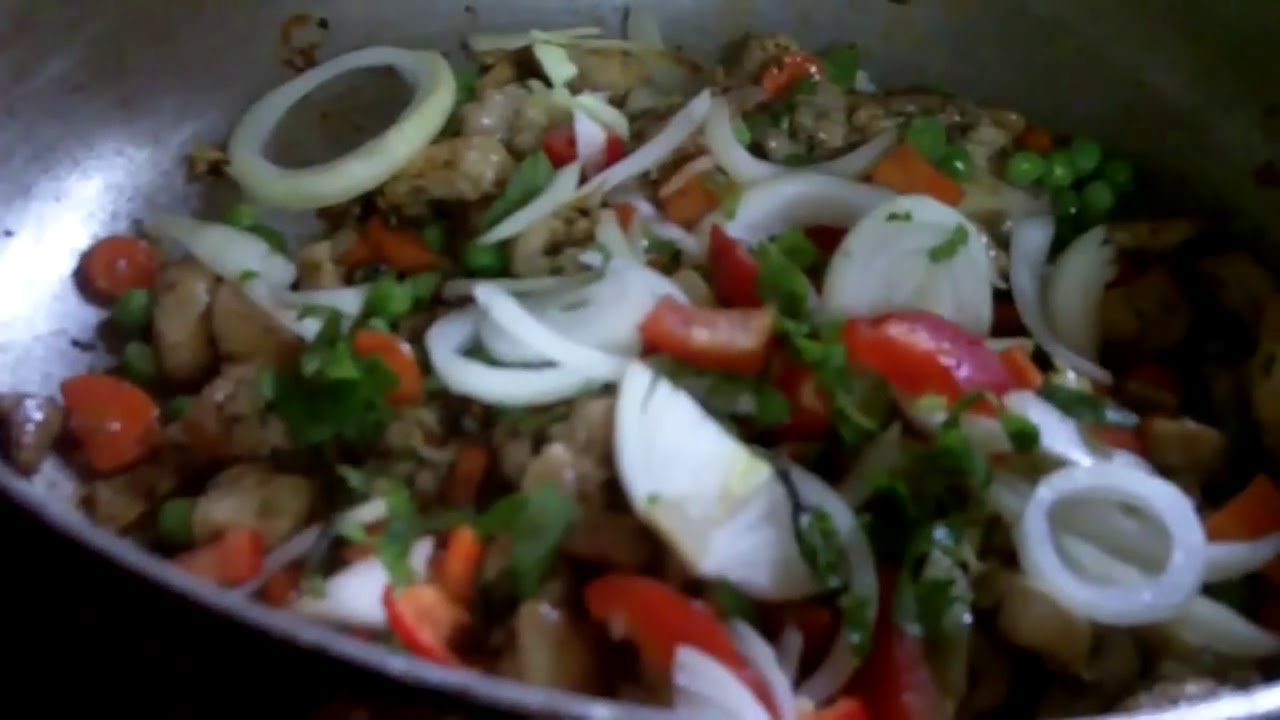 Chicken fried rice with vegetables youtube ccuart Gallery