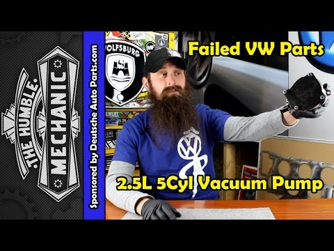 How The VW 2.5L Vacuum Pump Fails ~ Video