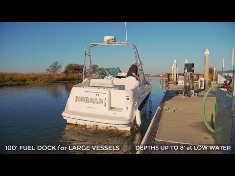 Antioch Marina 100' Fuel Dock With Chevron Mid Grade And Red Dyed Diesel