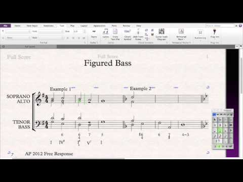 Figured Bass Beginning Examples Youtube