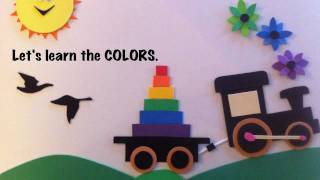 Learning Colors Video for Children in English, The Color Train Story.
