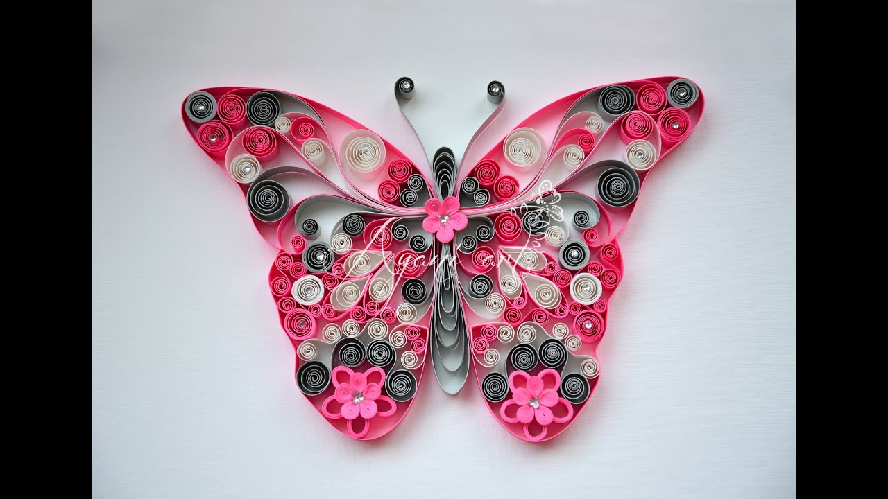 Papercraft Quilling Pink Butterfly Tutorial