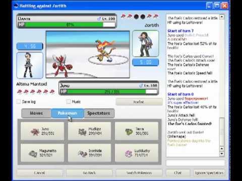 Pokemon-Online: Battle 1 - Gen 4 OU Team 1 vs Zortith