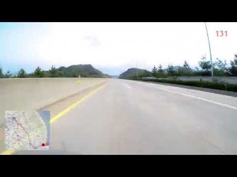 Pohang to Soul Coex for 1:36 - Driving Time lapse