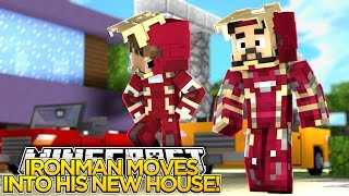 Minecraft Adventure - IRONMAN FINALLY MOVES INTO HIS NEW HOUSE!!