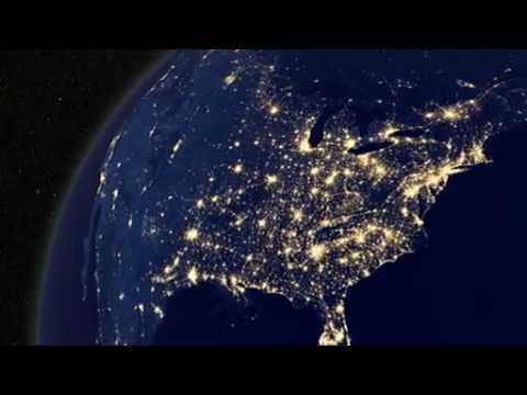 EARTH AT NIGHT Earth View From Outer Space YouTube - World map from outer space