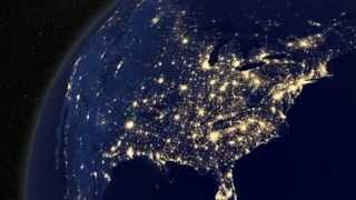 EARTH AT NIGHT: Earth View from Outer Space